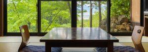 阿蘇の雄大な自然に囲まれた客室