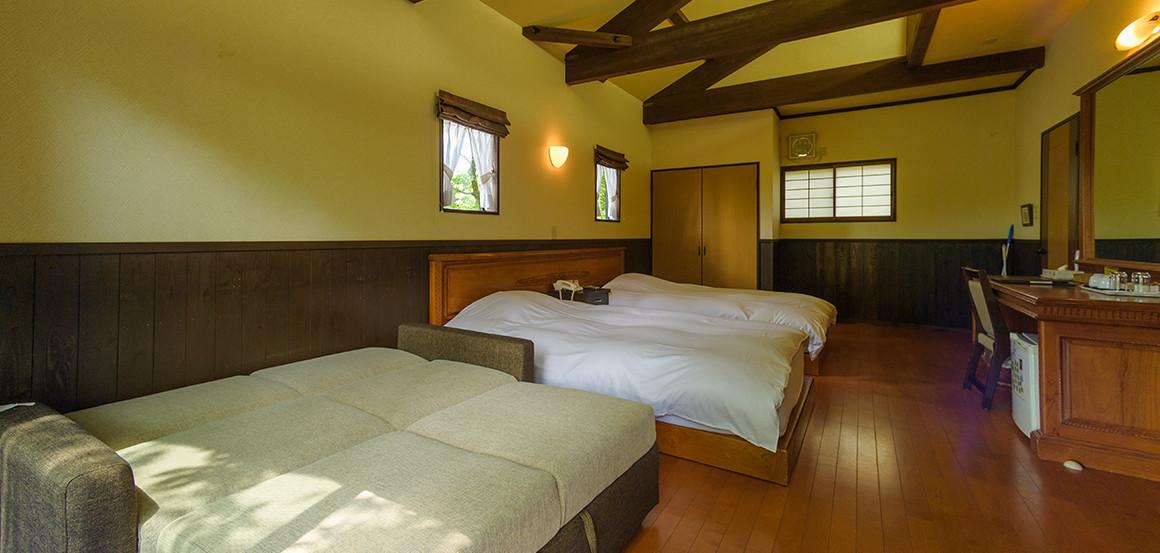 ソファーベットを使用時のツインルーム